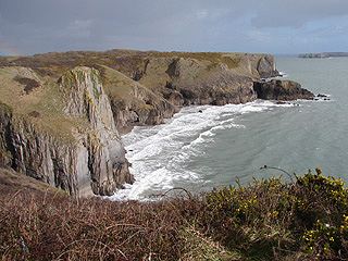 The cliffs between Manorbier & Lydstep